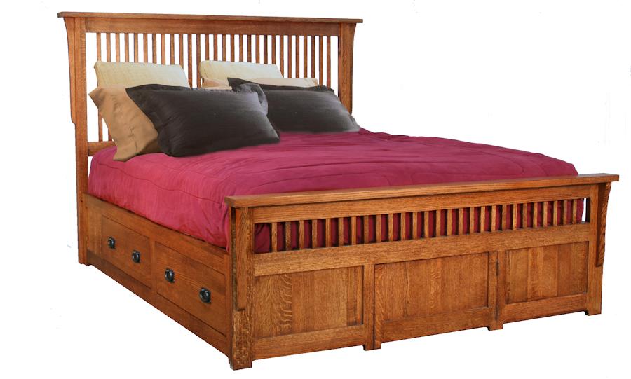 3000 Mission Bedroom Collection Storage Platform Bed